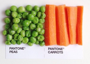 David Schwen Pantone Pairings Project peas and carrots